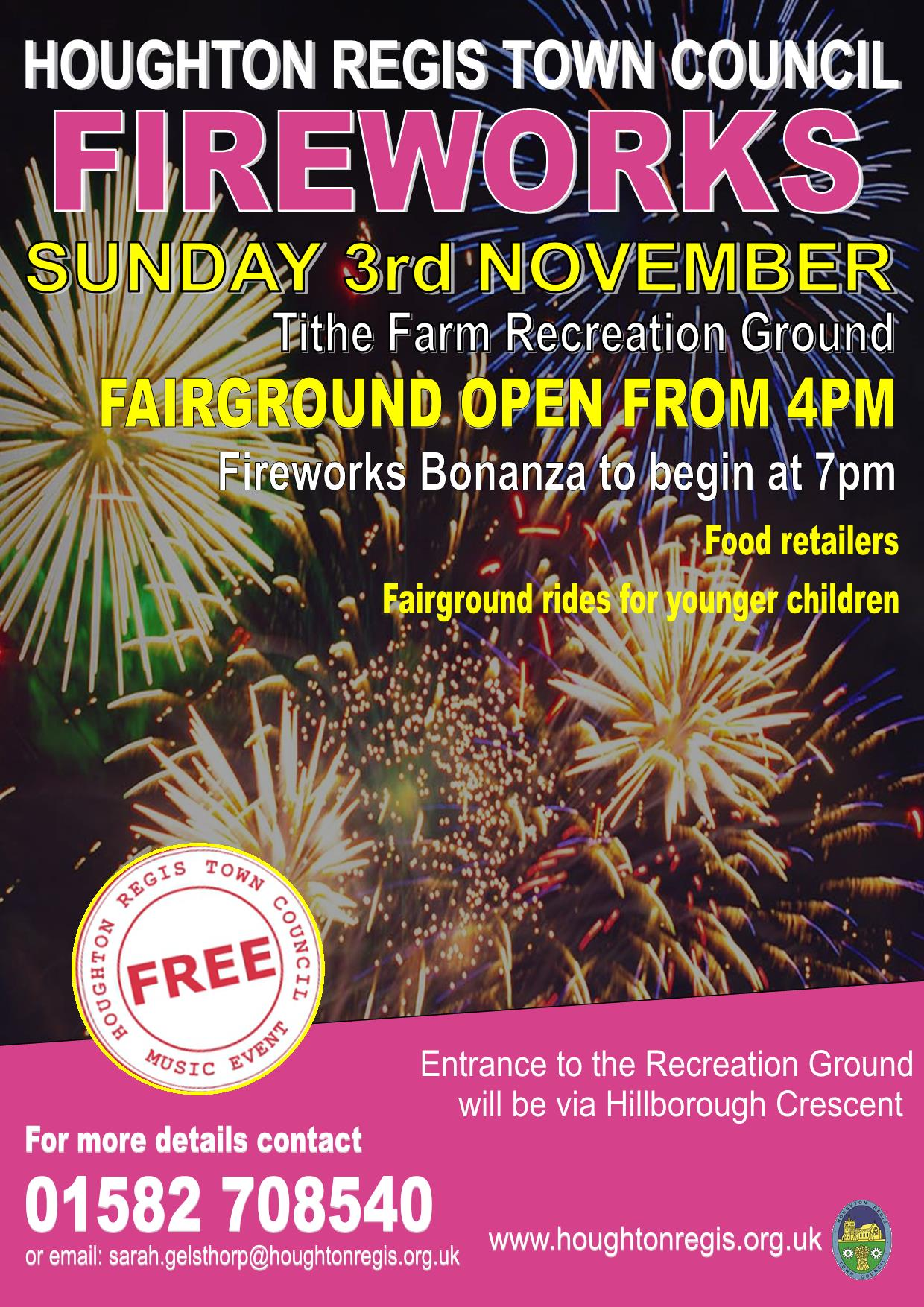Fireworks Display | Houghton Regis Town Council